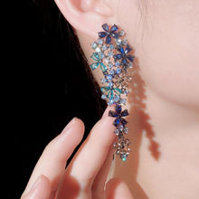 Load image into Gallery viewer, Leilani Floral CZ Earrings