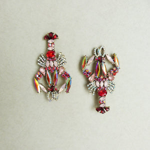 Asymmetrical Lobster Earrings - Rachel Rosh Malaysia