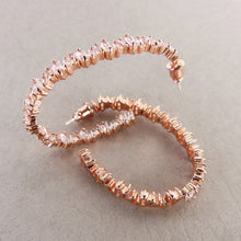 Load image into Gallery viewer, Sofia Rose Gold CZ earrings