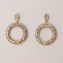 Load image into Gallery viewer, Ale Drop Hoops Statement Amanda Machado Earrings