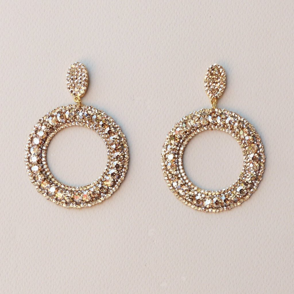 Ale Drop Hoops Statement Amanda Machado Earrings