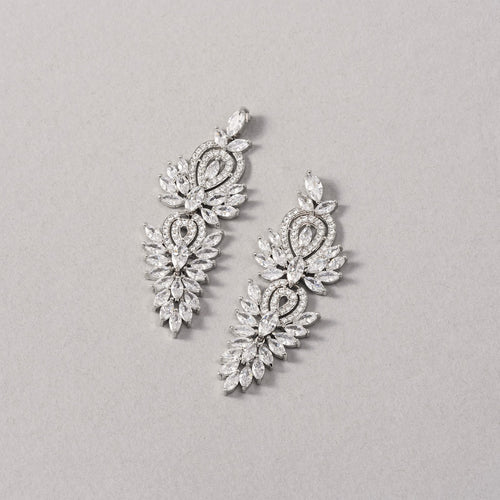 Natalia Simulated Diamond Earrings - Rachel Rosh Malaysia