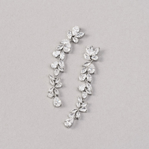 Jasmine Simulated Diamond Earrings - Rachel Rosh Malaysia