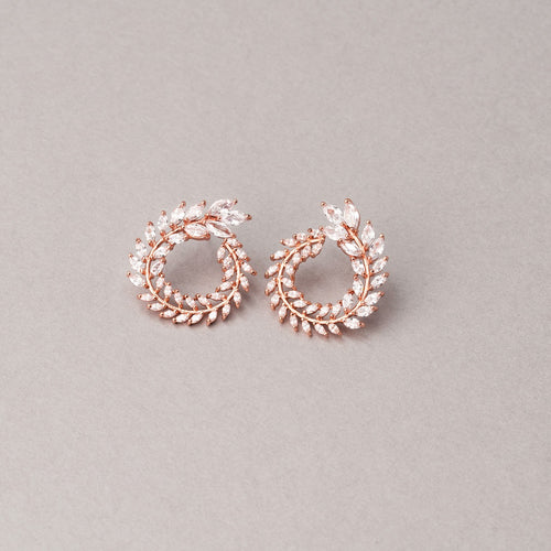 Olivia Rose Gold Simulated Diamond Earrings - Rachel Rosh Malaysia