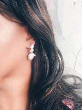 Load image into Gallery viewer, Vera Simulated Diamond and Pearl Earrings - Rachel Rosh Malaysia