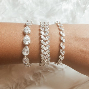 Alyssa Simulated Diamond Bracelet - Rachel Rosh