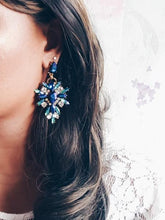 Load image into Gallery viewer, Isabella Blue Purple Statement Earrings - Rachel Rosh Malaysia