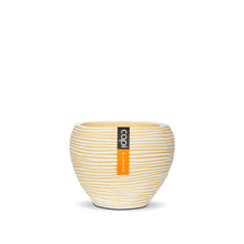 Load image into Gallery viewer, Rib Vase Tapered Round Yellow