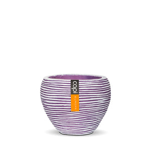 Rib Vase Tapered Round Purple