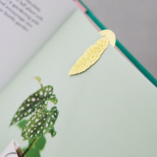 Load image into Gallery viewer, Brass Leaf Bookmark