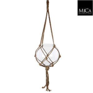 Carice Ball Hanging Glass with Rope
