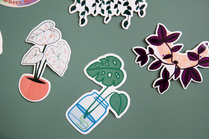 Home is Where My Plants Are Holographic Sticker