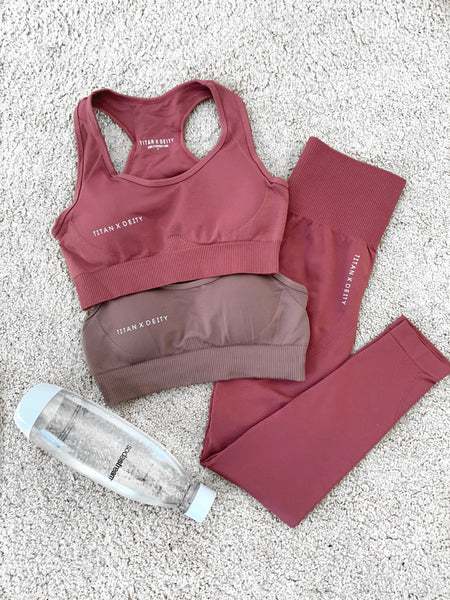 Seamless Sports Bra - Burnt Rose