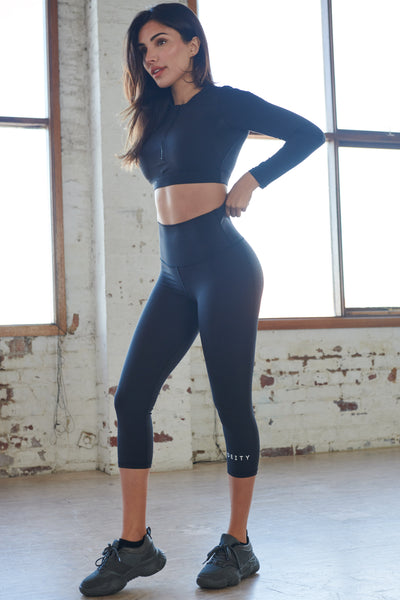 7/8 Black Leggings