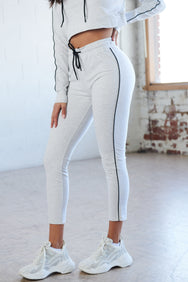 Grey Stripe Sweat Pant