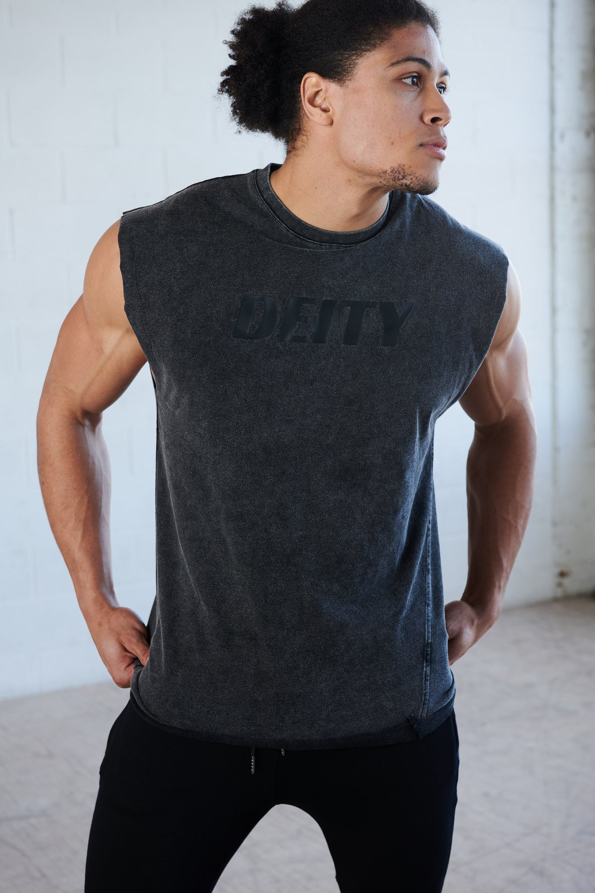 Deity Acid Wash Muscle Tee
