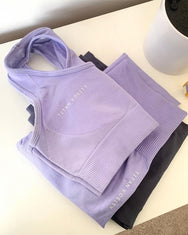 Seamless Sports Bra - Lilac Purple