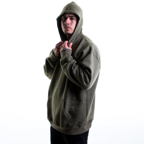 Khaki Oversized Hoodie - BG | Born Good Clothing