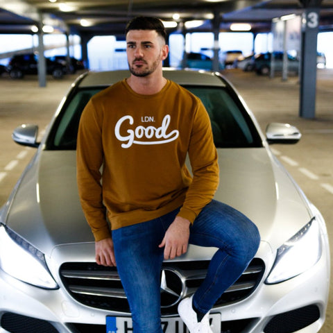 Good Sweatshirt Dark Yellow - BG | Born Good Clothing