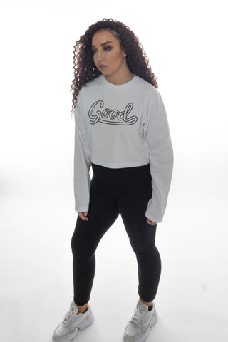 Good Outline Grey Cropped Sweatshirt