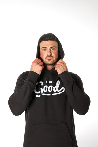 Good Black Hoodie - BG | Born Good Clothing