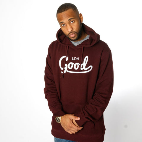 Good Burgundy Hoodie - BG | Born Good Clothing