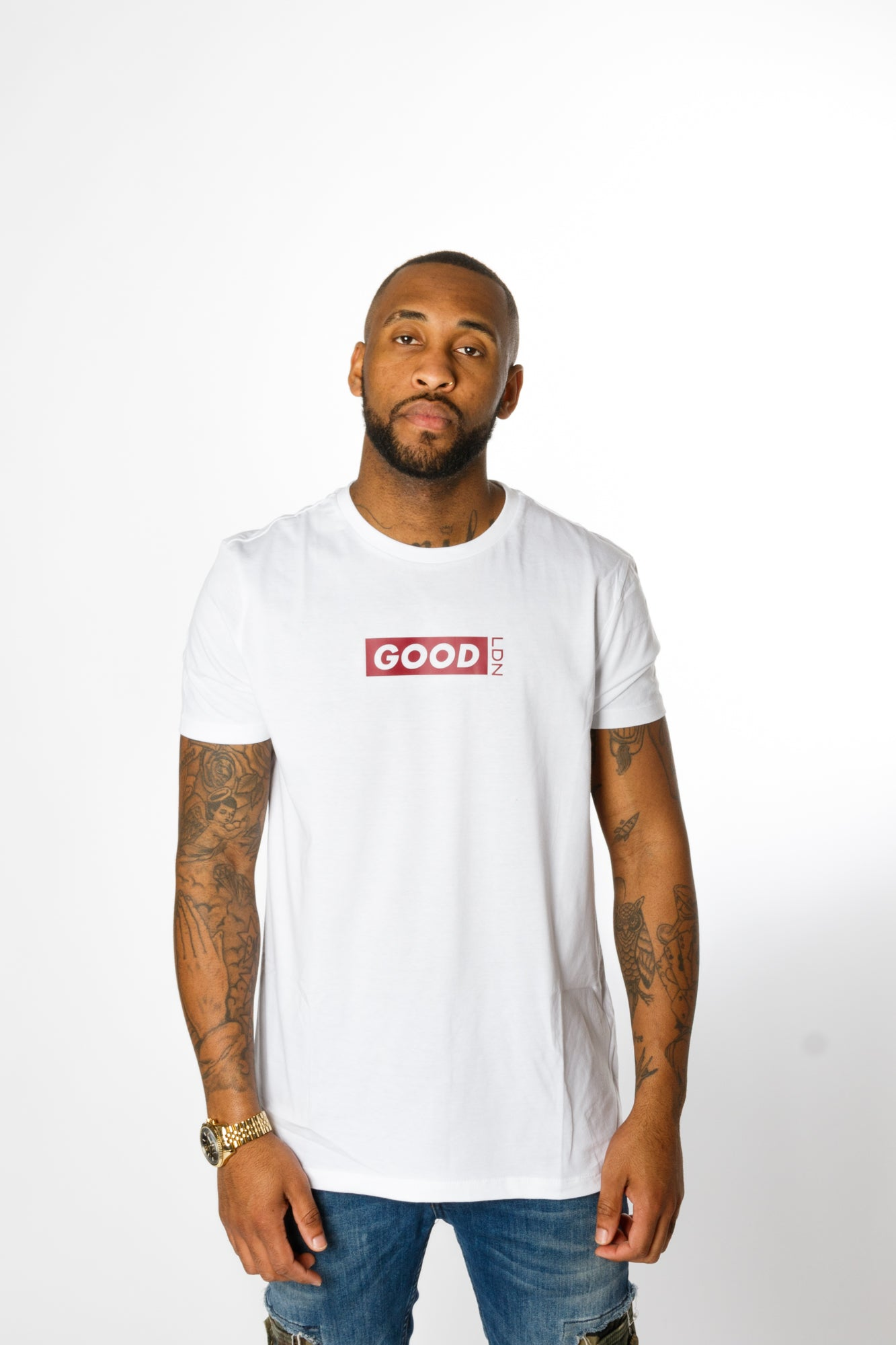 Good Box Logo White T-Shirt - BG | Born Good Clothing