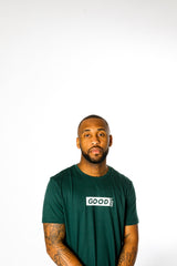 Good Box Logo Green T-Shirt - BG | Born Good Clothing