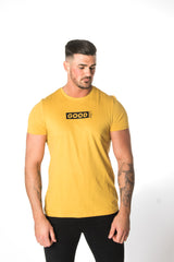 Good Box Logo Yellow T-Shirt - BG | Born Good Clothing