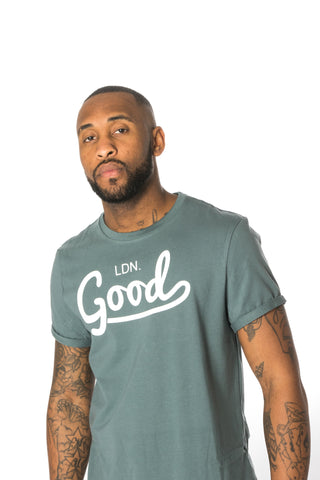 Good Blue Muscle Fit T-Shirt - BG | Born Good Clothing