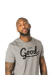 Good Grey Muscle Fit T-Shirt - BG | Born Good Clothing