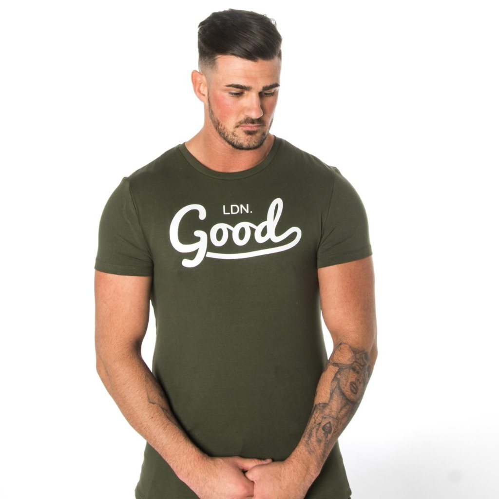 Good Green Muscle Fit T-Shirt - BG | Born Good Clothing