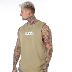 Good Box Khaki White Vest - BG | Born Good Clothing