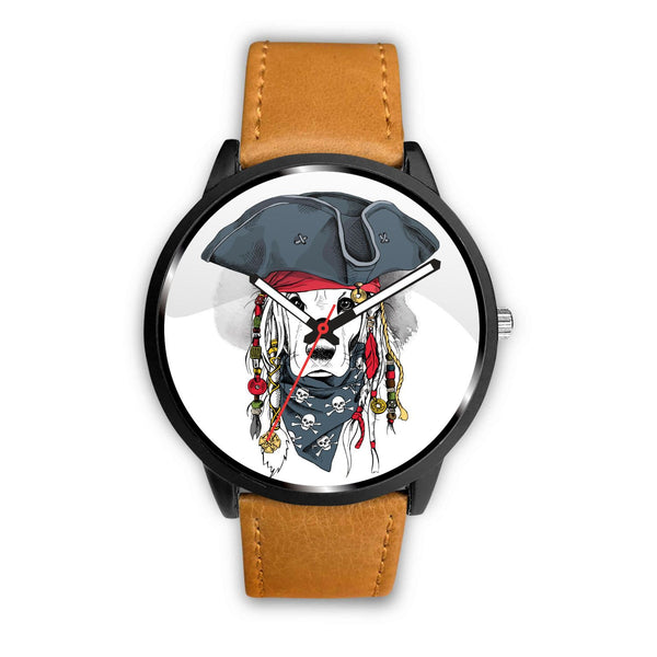 Pirate Dog Genuine Leather Watch