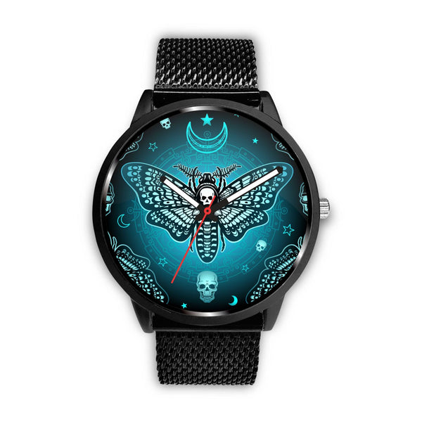 Blue Butterfly Skull Watch