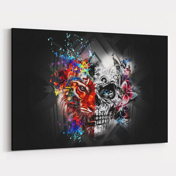Abstract Skull Canvas Print
