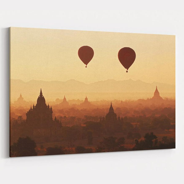 Bagan Sunrise Canvas Print
