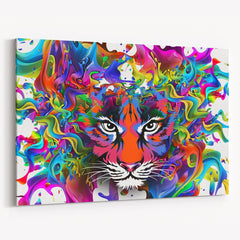 Colorful Tiger Canvas Print