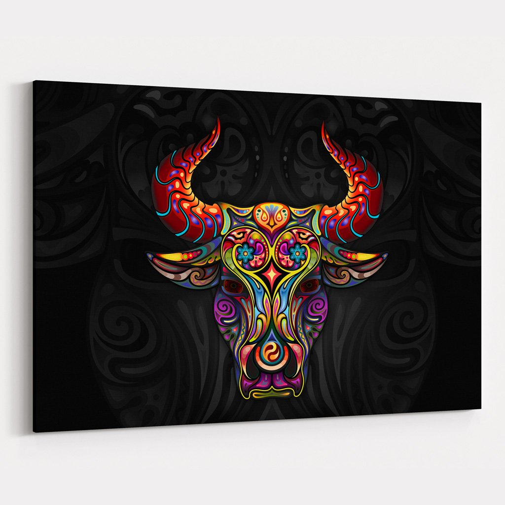 Ornamental Ox Canvas Print