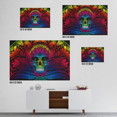 Colorful Rainbow Skull Canvas Print
