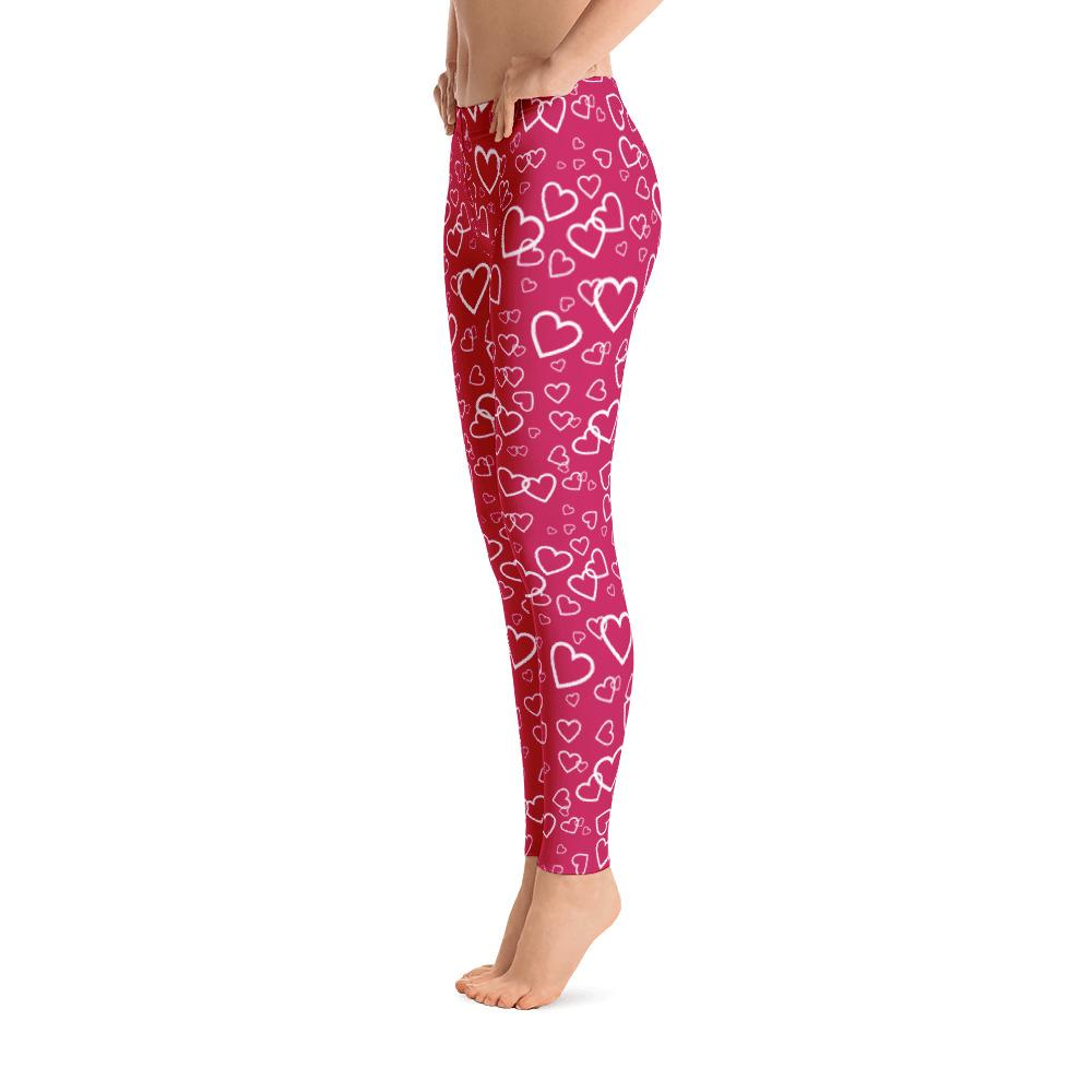 Hearts Pattern Leggings
