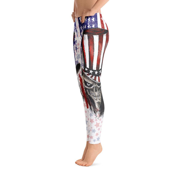 USA Skull Leggings