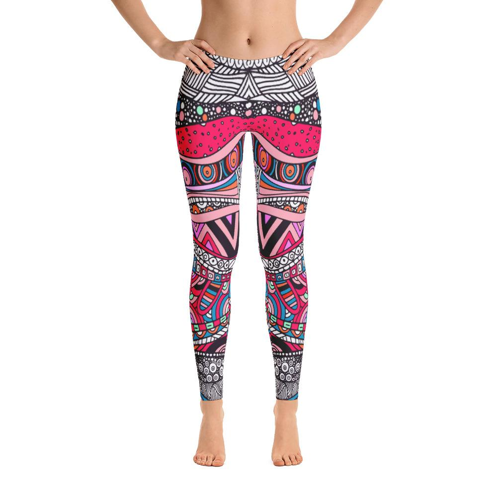 Abstract Colorful Leggings