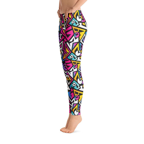 Abstract Color Pattern Leggings