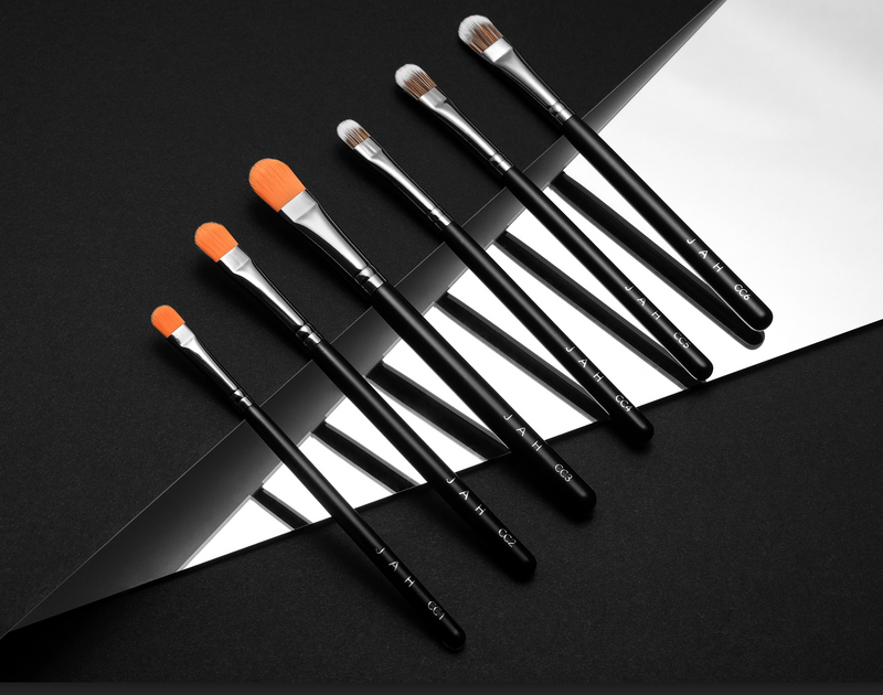 3pc PRO SLIM Cut Crease Brush Set