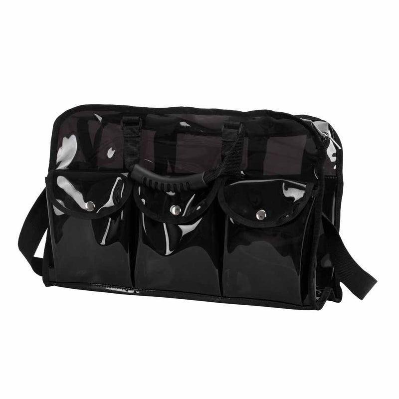 PVC Waterproof Portable Black Cosmetic Bag