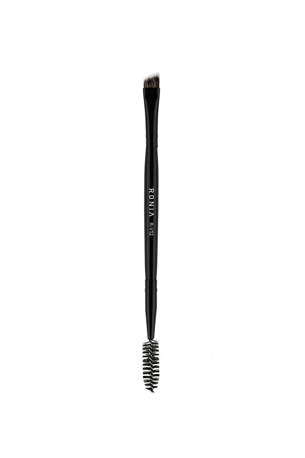 R-V12 DOUBLE ENDED EYEBROW BRUSH