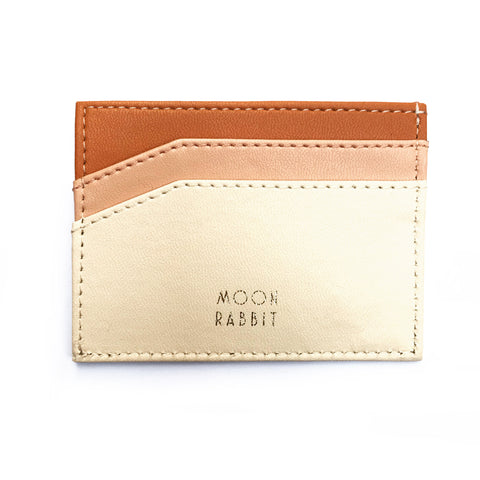 Card Holder - Cream/Tan