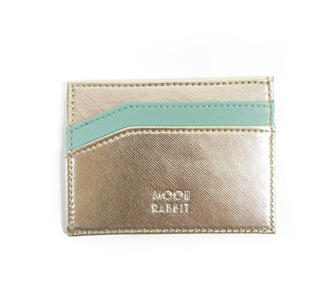 Card Holder - Gold/Teal - moonrabbitlifestyle