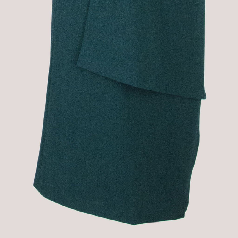 Womb Asymmetric Layer Skirt Polyester Rayon Green XL
